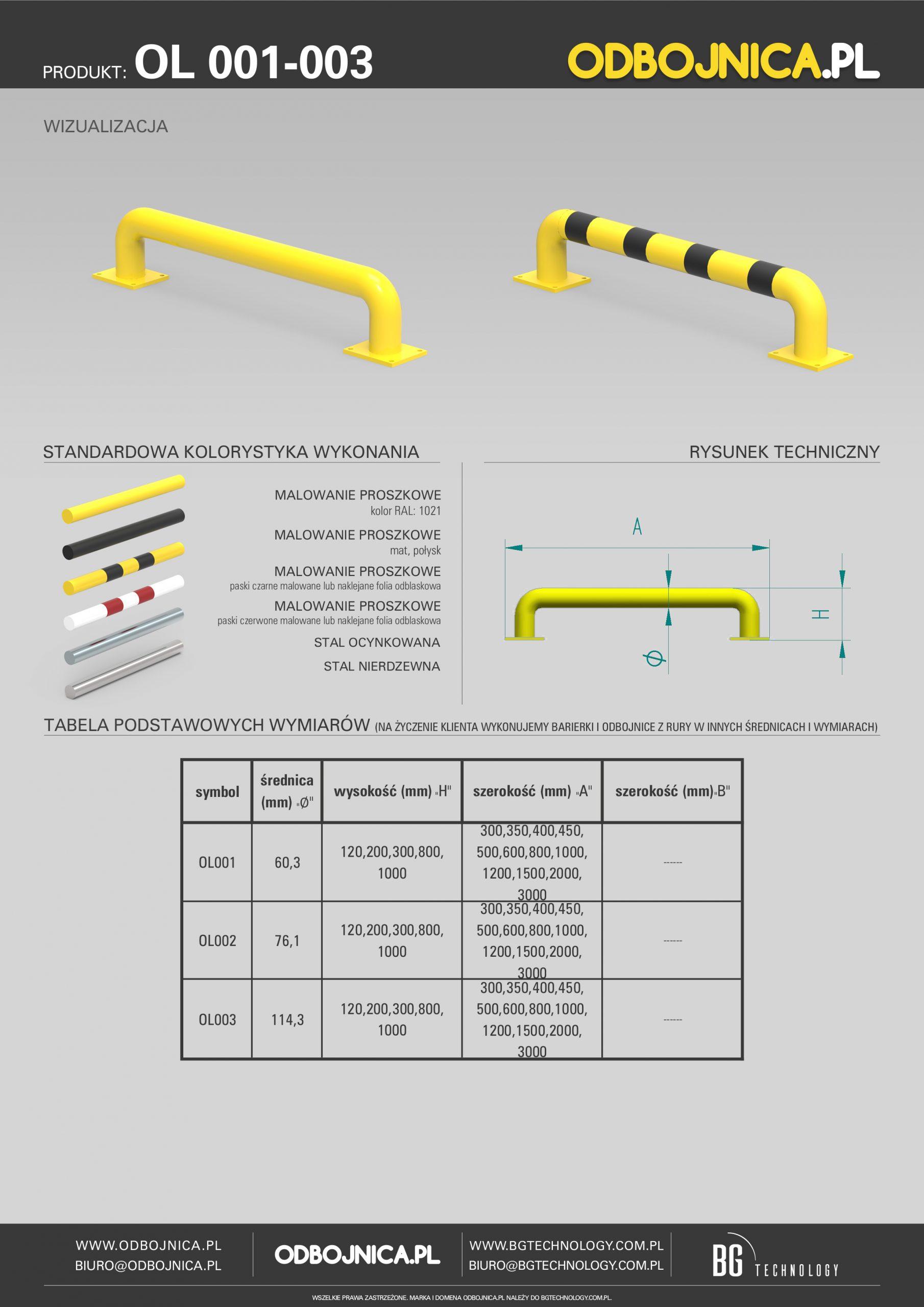 karta techniczna OL 001-003